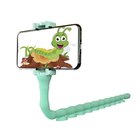 Flexible Cute Worm Lazy Mobile Cell Phone Holder Bed Desktop Bracket Stand  2019 High Quality