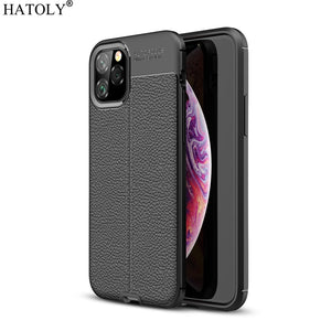 For Cover iPhone 11 Case Shockproof Leather TPU Soft Cover For iPhone 11 Silicone Phone Bumper Case For iPhone 11 Pro Max Cover