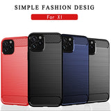 For iPhone 11 Case 2019 5.8 inch Carbon Fiber Soft Silicone Brushed Bumper Cover Rugged Coque For iPhone 11 Case Funda (X828)