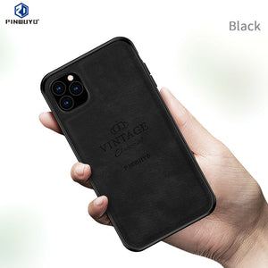 For iPhone 11 Pro Max PINWUYO Case for iPhone 11 Pro 11Pro Cloth Case for iPhone 11 Max PU Leather Mobile Phone Case