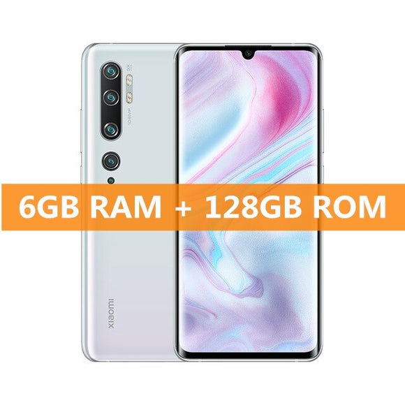 Global Version Xiaomi Mi Note 10 6GB RAM 128GB ROM Smartphone Snapdragon 730G 108MP Penta Camera 5260mAh Battery 6.47
