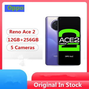 "DHL Fast Delivery Oppo Reno Ace 2 5G Cell Phone Snapdragon 865 Android 10.0 6.55"" 90HZ 12GB RAM 256GB ROM 48.0MP 65W Charger Qi"