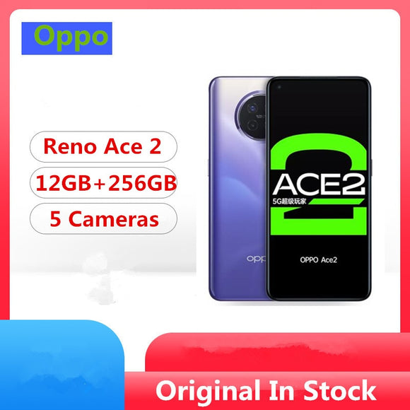 DHL Fast Delivery Oppo Reno Ace 2 5G Cell Phone Snapdragon 865 Android 10.0 6.55