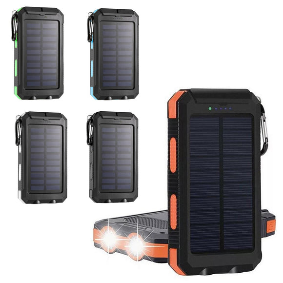 20000mAh  Solar Power Bank Assemble Parts Multifunction Solar Mobile Power Nesting External Battery Charger Outdoor Backup Pack