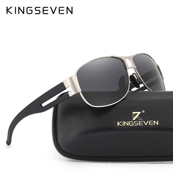 KINGSEVEN Men Classic Brand Sunglasses Luxury Aluminum Polarized Sunglasses EMI Defending Coating Lens Male Driving Shades N7806