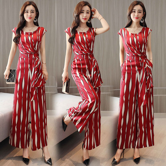 Women Jumpsuits Rompers fashion Long Trousers Pants Wide Leg Rompers Female New 2018
