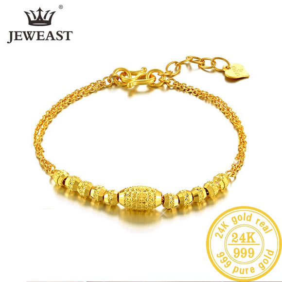 YSF 24K Pure Gold Bracelet Real 999 Solid Gold Bangle Upscale Beautiful  Romantic Trendy Classic Jewelry Hot Sell New 2019