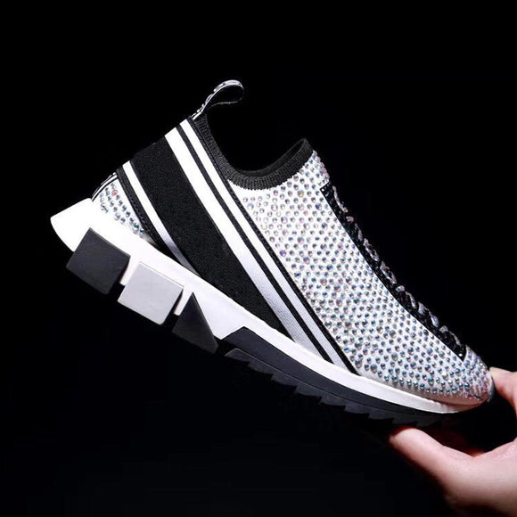 YXB Womens Sneakers New Spring Sports Shoes Shallow Mouth Low-Top Casual Shoes Athletic Shoes Training Shoes White Black,White,42