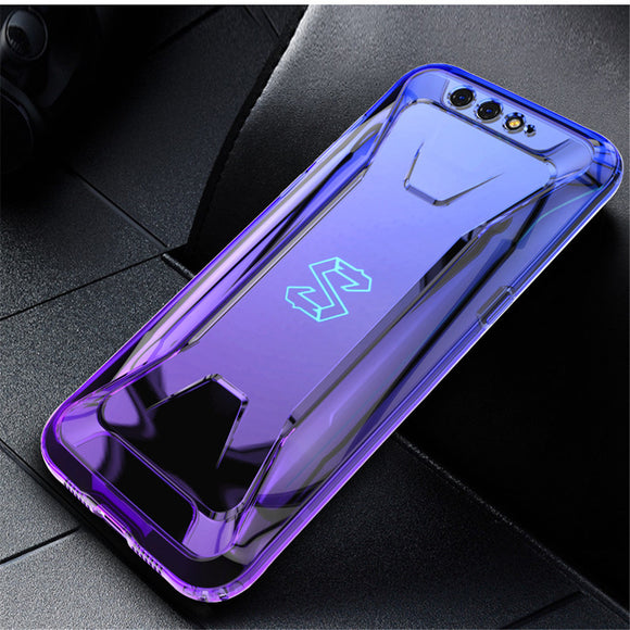 Gradient Transprent Mobile Phone Case for Xiaomi Black Shark helo 2 2pro Anti-fall Silicone Case for Xiaomi 10 Redmi k20 pro K20