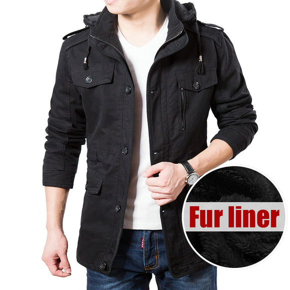 High Quality Brand Thickening Winter Coat Fur liner Jacket Men 2019 New Fashion Hooded Jackets Warm Parkas Plus Size 4XL 5XL 6XL