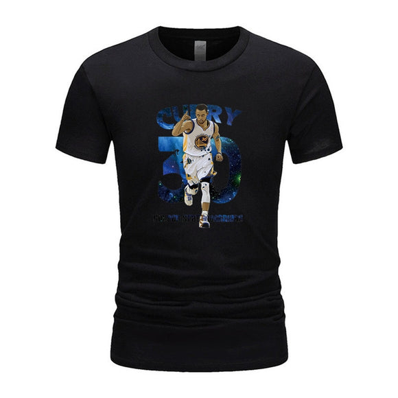 High quality brand Fashion Stephen Curry 30 T Shirt Men Short Sleeve Cotton T Shirts Tops Curry T-shirt Tee Fashion Clothing