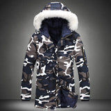 Hot Selling  New Arrival Men Fashion Camouflage Jacket winter Tide Male Hooded thicker keep warm Cotton Coat plus size S-