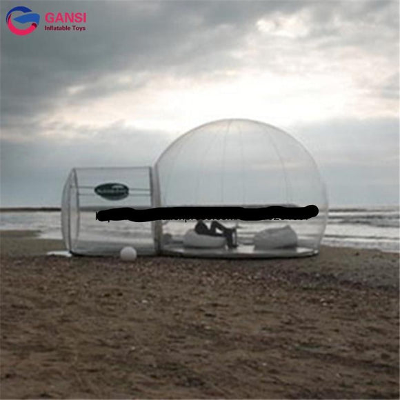 Hot sale Clear Bubble Camping Tent inflatable transparent bubble snow globe tent for sale