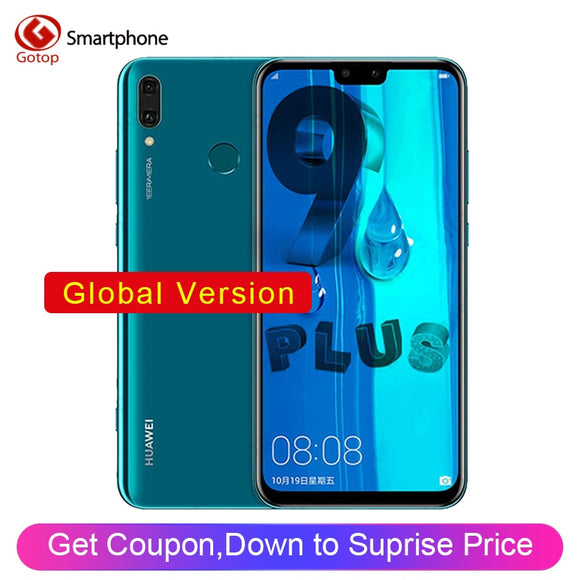 Huawei Y9 2019 Enjoy 9 Plus Dual SIM 4000mAh Battery Smartphone 6.5 inch Hisilicon Kirin 710 Octa Core 16MP 4 Camera Cell Phone
