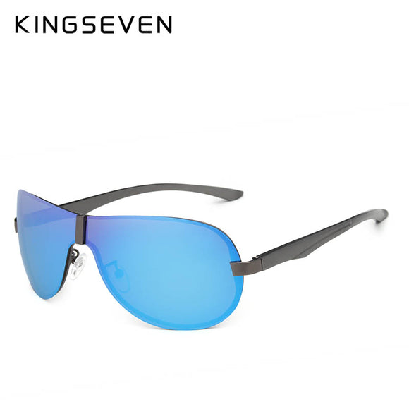 KINGSEVEN Aluminum Polarized Driving Sunglasses for Men glasses Brand Designer with High Quality Big frame rimless sun glasses