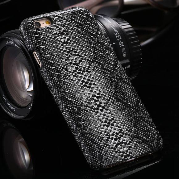KISSCASE Fashion Sexy Snake Skin Case For iPhone XS Max XR 7 8 Hard PC Phone Case For iPhone 7 8 6 6s Plus 5s Slim Cover Fundas