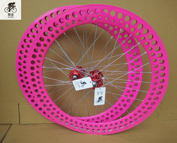 Kalosse Hot selling   700*23C  Fixed gear bicycle   32 Holes 70mm rims  700C  4 bearings hub  fixed gear bike wheels
