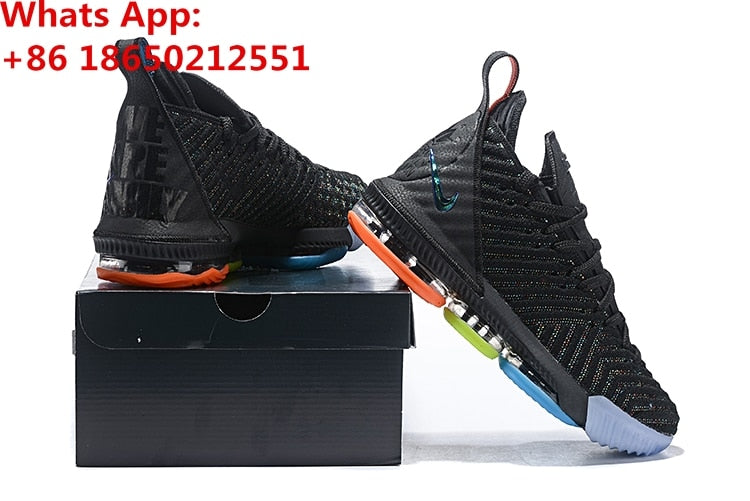 d898a7e3364 ... LeBron 16 16s XVI GS James Basketball Shoes Sneakers Grey King I Promise  Oreo Thru MVP ...