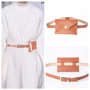 Light Tan Dual Use Barry.Wan Pin Buckle Belt Bag Slim Women Shoulder Bag 110cm Waist Belt For Jeans Pants Skirt PB-2010