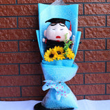 Lovely Cartoon Stitch Snoopy Plush Doll Toys Snoopy PVC Bouquet Artificial Flowers Valentine's Day Wedding Party Decoration Gift