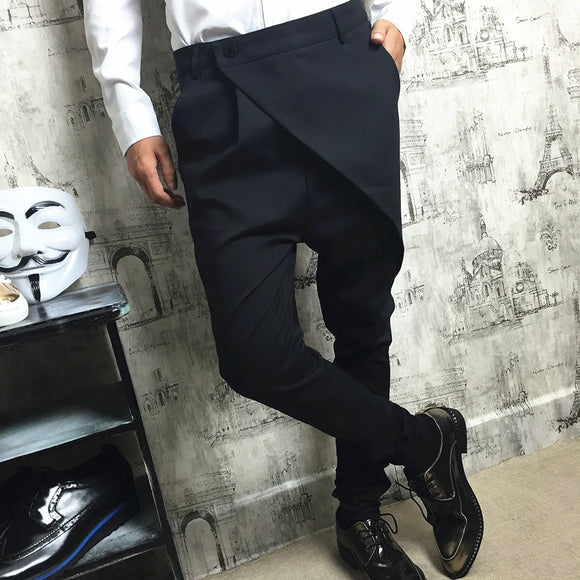 M~5XL! New 2019 Men's Clothing PLUS SIZE GD Stylist Haren trousers feet trousers personality casual pants singer costumes