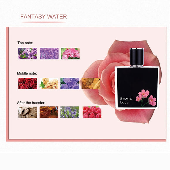 MayCreate 50ML Women Perfumed Long-lasting Female Parfum Atomizer Fashion Lady Flower Bottle Glass Fresh Light Fragrance Parfume