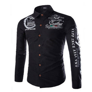 Meihuida High Quality Leisure New Men Shirts Fashion Luxury Casual Stylish Slim Fit Long Sleeve Shirts Male Dropship