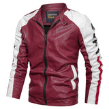 Men Motorcycle Leather Jackets Winter Male Fashion Casual Hooded Faux Jacket Mens Warm PU Leather Jackets Coats