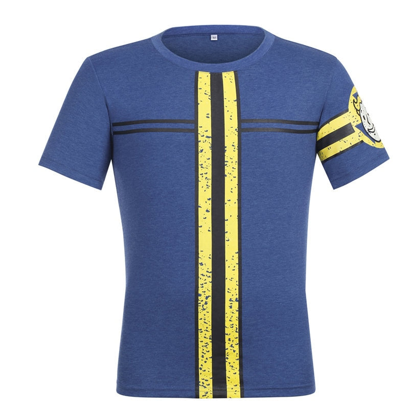 baff61d3ba3 Men Women Fallout 4 T-shirt Cosplay Fallout 4 Vault 111 Tees Nate Sole  Survivor Costume Short Sleeve Tops High Quality