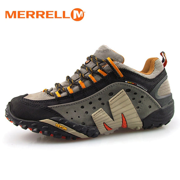 Merrell Men Light Mesh Breathable Outdoor Sport Hiking Shoes For Male Wearable High Quality Mountain Aqua Sneakers 39-45