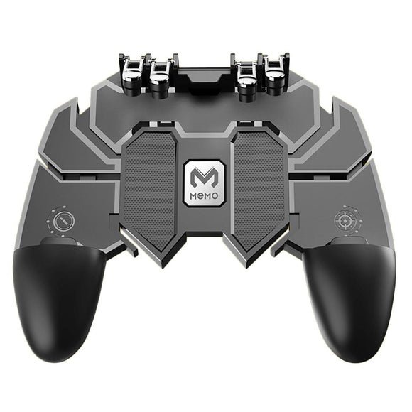 Mobile PUBG Joystick Controller AK66 Six Finger All-In-One Gamepad for PUBG IOS Android L1 R1 Trigger Operating Gamepad
