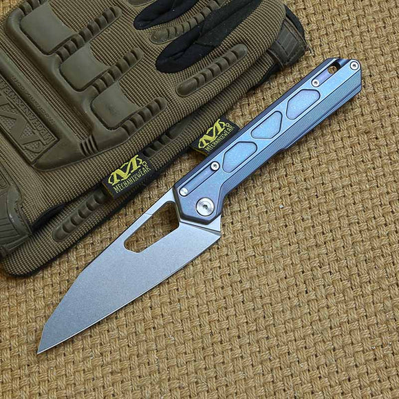 NOC DT-03 tactics folding knife VG10 blade KVT ball bearing titanium handle camping hunting outdoor Survival knives EDC Tools