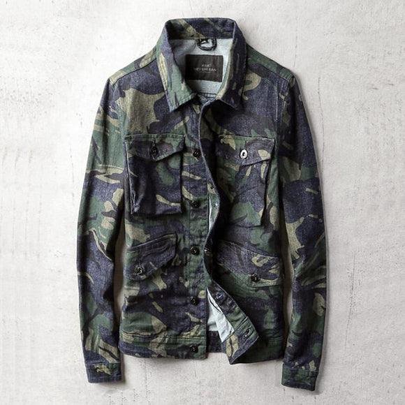New 2019 Spring Jacket Men Casual High Quality Camouflage Bomber Jacket Mens Fashion Many Pocket Outwear Big Size M-4XL A5423