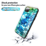 New Marble Tempered Glass Case For Iphone 11 Pro Max Iphone11 Back Cover Case Silicone Frame For Iphone 11Pro Xi 2019 Hard Case