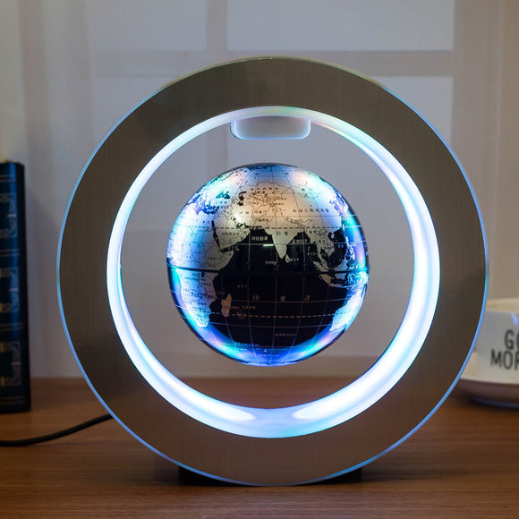 Novelty Round LED World Map Floating Globe Magnetic Levitation Light Antigravity Magic/Novel Lamp bola de plasma Dec plasma ball