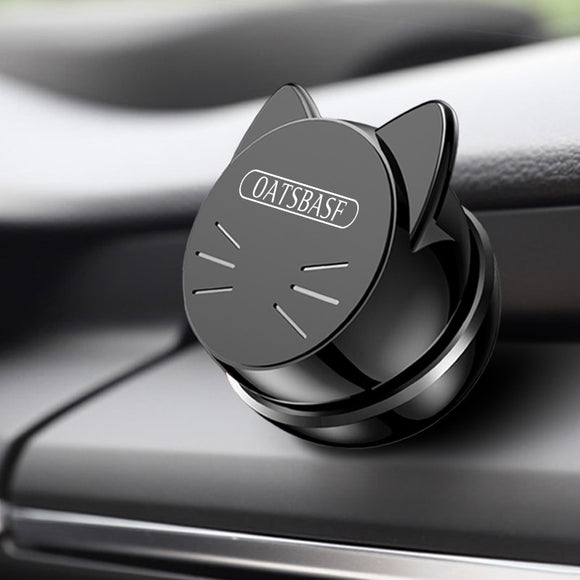 OATSBASF Universal Car Phone Holder 360 Degree GPS Magnetic Mobile Phone Holder for Xiaomi Redmi Note 7Magnet Mount Holder Stand