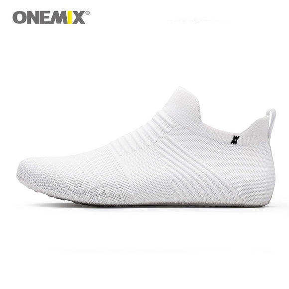 ONEMIX men shoes women shoes slip-on innner slippers high-elastic silk no glue environmentally light cool man indoor working