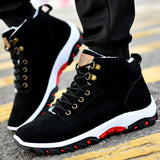 OUDINIAO Snow Warm Winter Men Boots Plush Warm Winter Men Shoes Round Toe Snow Winter Shoes Men Shoes