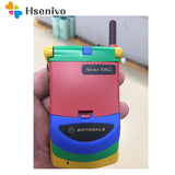 Special Offer Old Original Mobile Phone Unlocked Motorola StarTAC Rainbow Flip GSM with Multi-Language Free Shipping