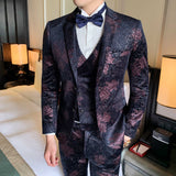 One Button Wedding Suit For Men Business Suits Men S-3XL Brand New Slim Fit Casual 3pc Men Dress Suit Night Club Party Tuxedo