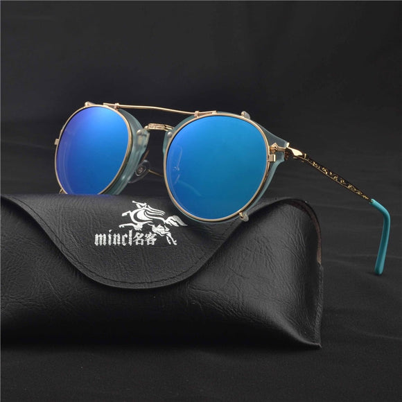 Optics  Eyeglasses Frames Men Women With 1 Clip On punk Sunglasses 2019 hot Glasses Male Driving Spectacle Myopia  FML