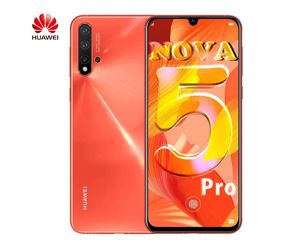 Original Huawei Nova 5 pro Smartphone 2340x1080 Pixel multi touch curved screen USB Type-C Android 9.0 Mobile Phone