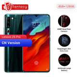 "Original Lenovo Z6 Pro 8GB 128GB Snapdragon 855 Octa Core 6.39"" 1080P Display Fingerprint Smartphone Rear 48MP Quad Cameras"