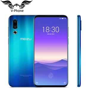 "Original Meizu 16s Mobile Phone Snapdragon 855 8GB RAM 256GB ROM 6.2"" 48MP 20MP Rear Camera Face unlock Fingerprint Smart phones"