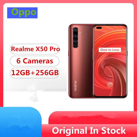 Original Realme X50 Pro 5G Mobile Phone Snapdragon 865 Android 10.0 6.44