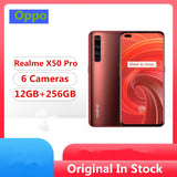 "Original Realme X50 Pro 5G Mobile Phone Snapdragon 865 Android 10.0 6.44"" 2400x1080 90Hz 12GB RAM 256GB ROM 64.0MP 65W Charger"