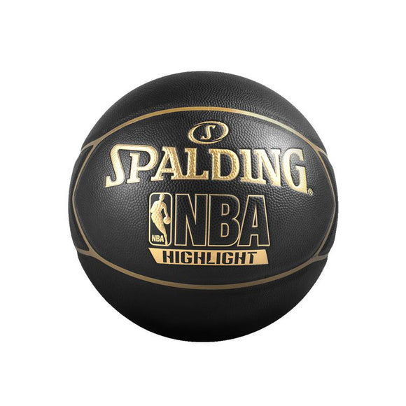 Original SPALDING Highlight Golden NBA LOGO Indoor and Outdoor PU Basketball 74-634Y