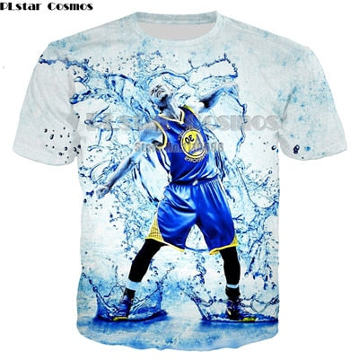 PLstar Cosmos Hot Sale 3D Print Graphic Stephen Curry women men Tee Shirt Cool 3D T Shirt Short Sleeve T-Shirt Casual unisex Tee