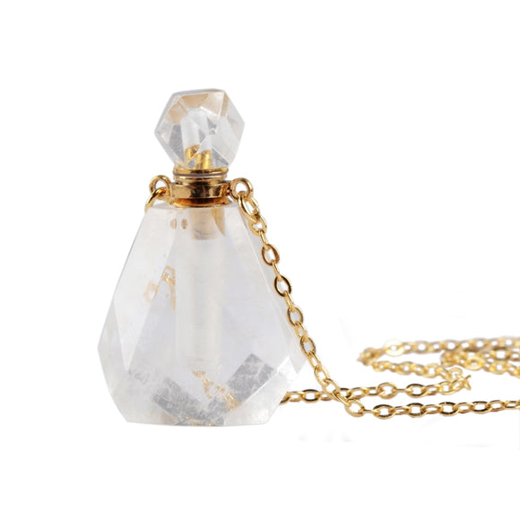 Perfume Bottle Necklace Multi-Kind Natural Stone Essential Oil Bottle Diffuser 26
