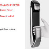 SAMSUNG English Version SHP-DP728 Keyless Bluetooth Fingerprint PULL PUSH Digital Door Lock Black Golden or Black Sliver